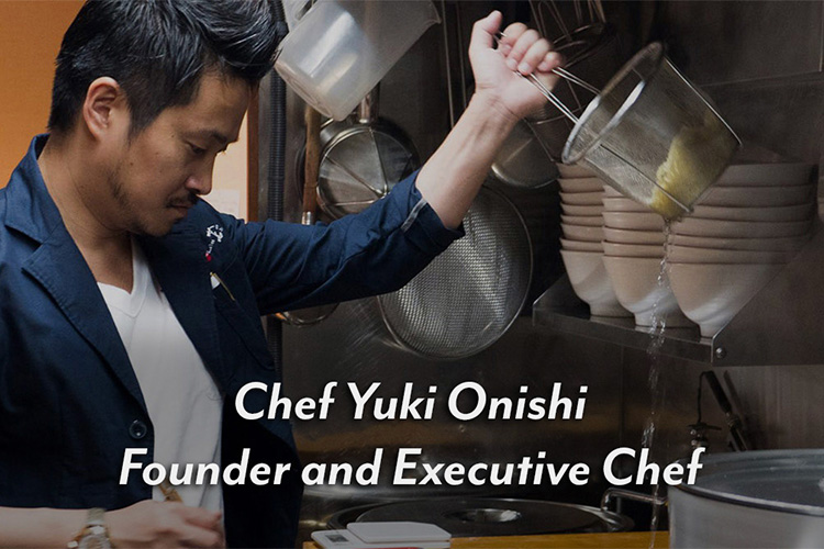 Chef Yuki Onishi Founder and Executive Chef